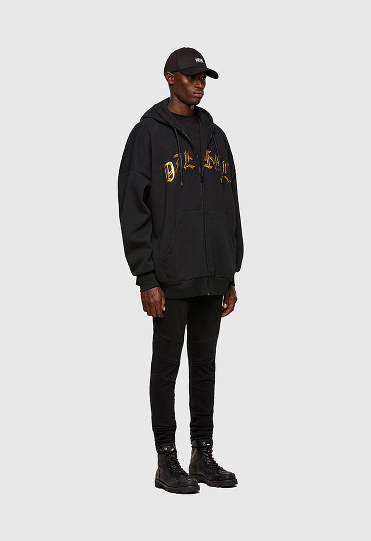 S-OXI-ZIP-A1, Black - Sweaters
