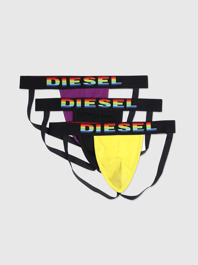 Diesel - UMBR-JOCKYTHREEPACK, Black/Yellow - Jockstraps - Image 1