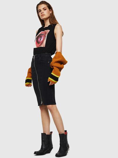 Diesel - DE-PENCIL-ZIP, Opaque Black - Skirts - Image 4