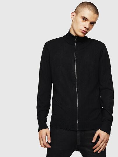Diesel - K-ECLY, Black - Knitwear - Image 1