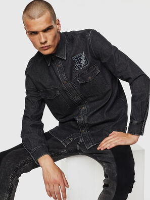 D-BANDY-B, Black - Denim Shirts