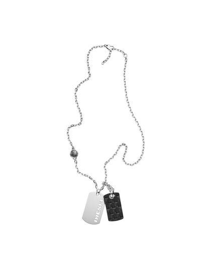 Diesel - NECKLACE DX1014, Silver - Necklaces - Image 1