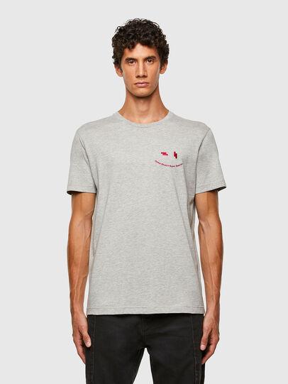Diesel - T-DIEGOS-N28, Grey - T-Shirts - Image 1