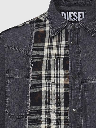 Diesel - D-FINLY, Dark grey - Denim Shirts - Image 3