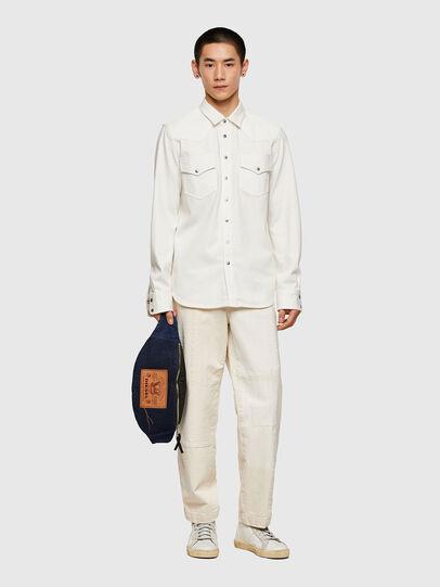 Diesel - D-EAST-P1, White - Denim Shirts - Image 5