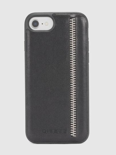 Diesel - ZIP BLACK LEATHER IPHONE 8 PLUS/7 PLUS/6s PLUS/6 PLUS CASE,  - Cases - Image 2