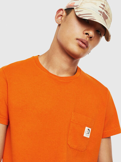 Diesel - T-WORKY-MOHI-S1, Orange - T-Shirts - Image 3