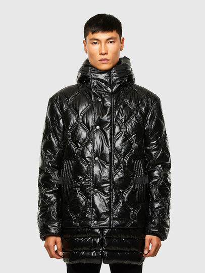 Diesel - W-CRAWFORD-SHINY, Black - Winter Jackets - Image 1