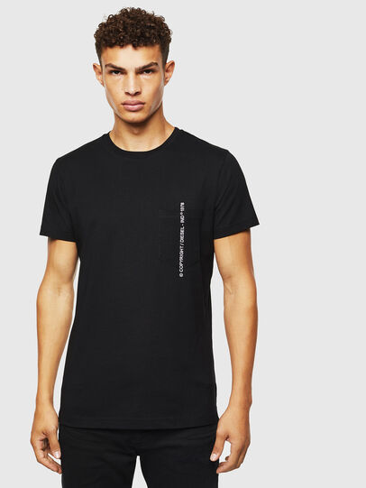 Diesel - T-RUBIN-POCKET-J1, Black - T-Shirts - Image 1