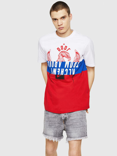 Diesel - T-JUST-A1, White/Red/Blu - T-Shirts - Image 4