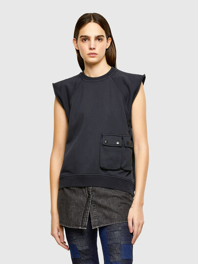 Diesel - F-ELPA, Black - Sweaters - Image 1