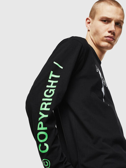 Diesel - T-JUST-LS-VINT, Black/White - T-Shirts - Image 4