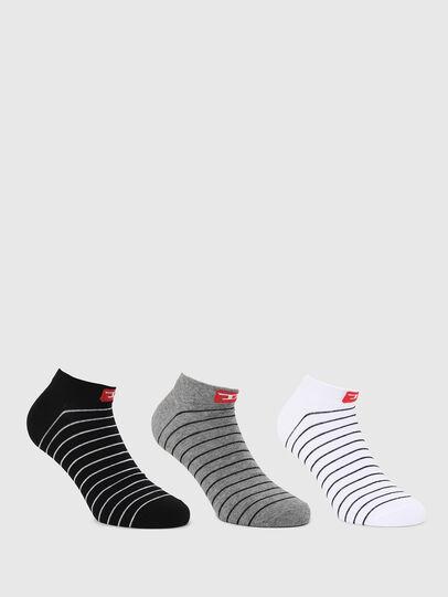 Diesel - SKM-GOST-THREEPACK, Black/White - Socks - Image 1