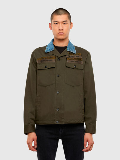 Diesel - S-COVIL, Military Green - Shirts - Image 1