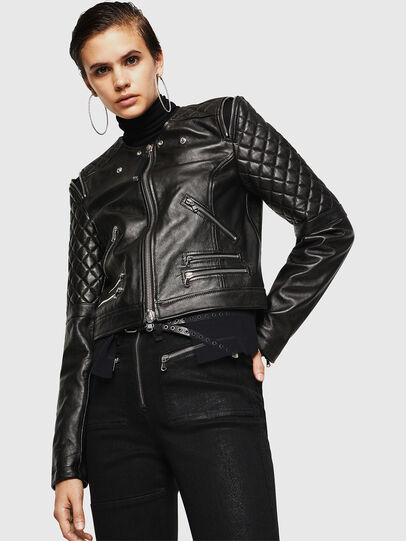 Diesel - LIVIA, Black - Leather jackets - Image 4
