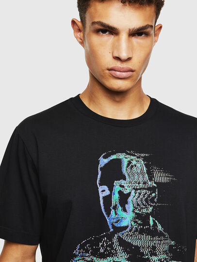 Diesel - T-JUST-J12, Black - T-Shirts - Image 3