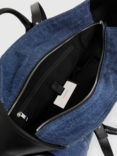 Diesel - LEENA, Blue - Shopping and Shoulder Bags - Image 4