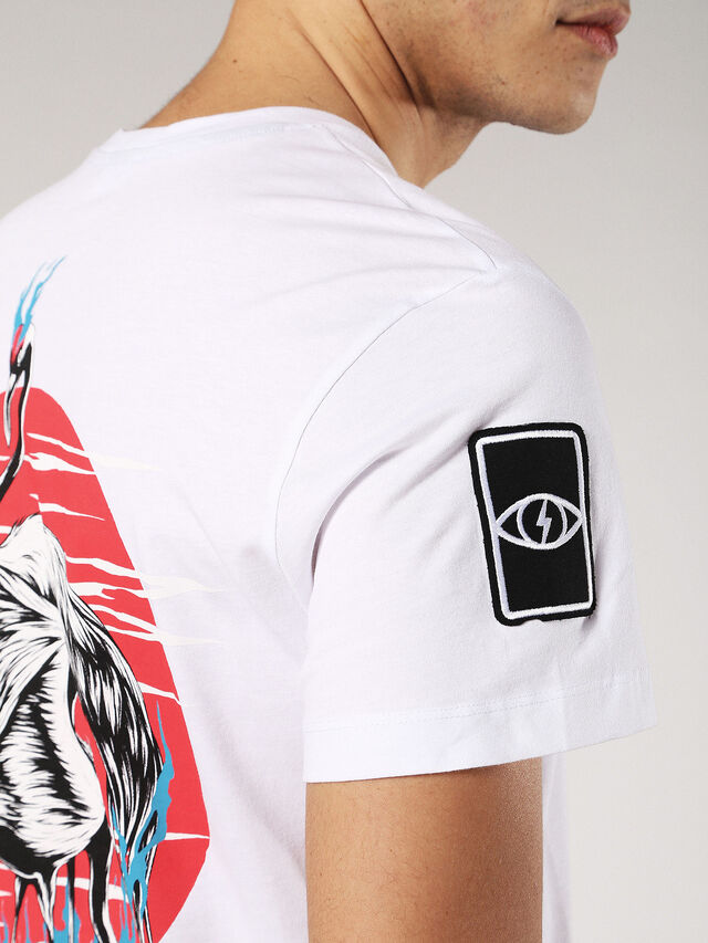 T-DIEGO-SS, White/Red