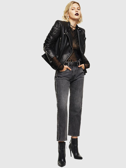 Diesel - L-IGE, Black - Leather jackets - Image 5