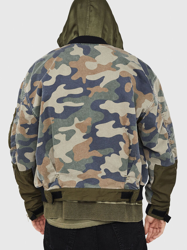 Diesel - D-AZLEY JOGGJEANS, Green Camouflage - Denim Jackets - Image 2