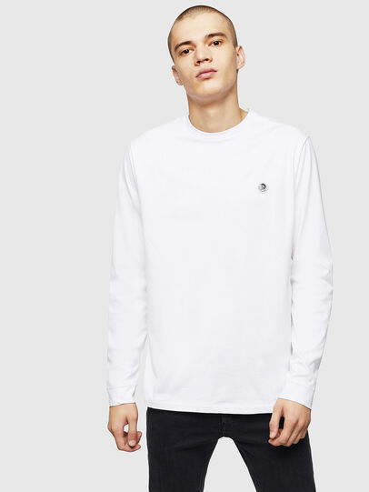 Diesel - T-JUSTY-LS, White - T-Shirts - Image 1