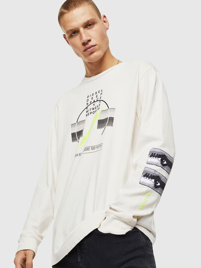 Diesel - T-JUST-LS-J3, White - T-Shirts - Image 1