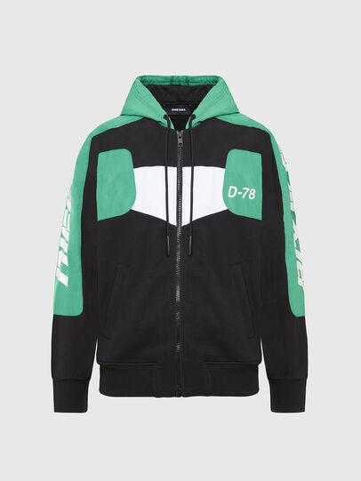 Diesel - S-JAKLER, Black/Green - Sweaters - Image 1
