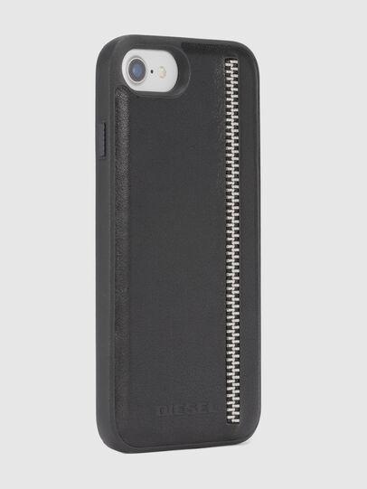 Diesel - ZIP BLACK LEATHER IPHONE 8 PLUS/7 PLUS/6s PLUS/6 PLUS CASE,  - Cases - Image 5