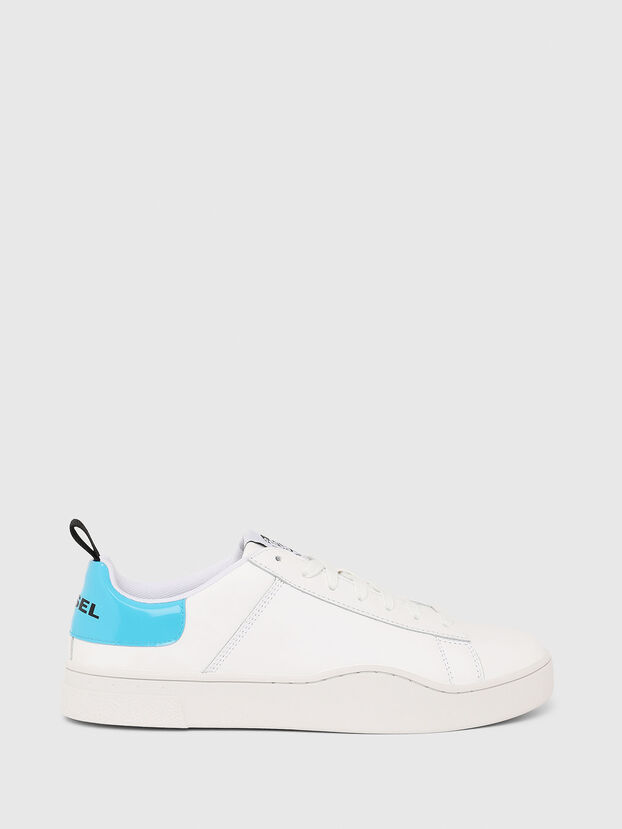 S-CLEVER LOW LACE, White/Blue - Sneakers