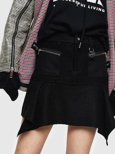 Diesel - O-BRYEL-A, Black - Skirts - Image 1