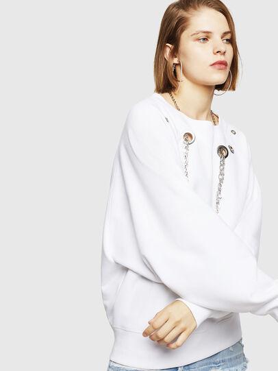 Diesel - F-HENNY-B, White - Sweaters - Image 1