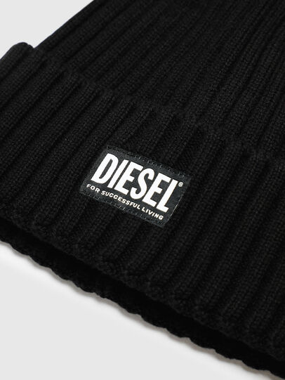 Diesel - K-CODER-E, Black - Knit caps - Image 3