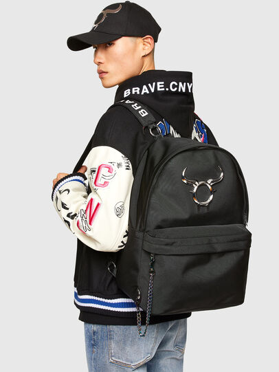 Diesel - CL - DHORIAN - BACKP, Black - Backpacks - Image 6