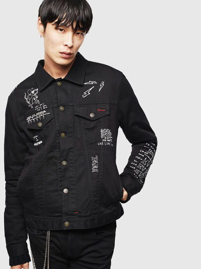 Diesel - CL-NHILL-T, Black - Denim Jackets - Image 1