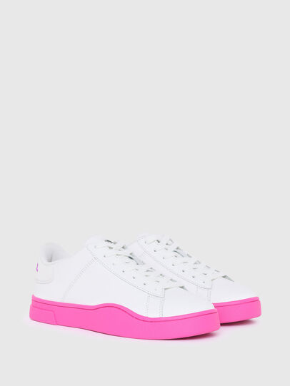 Diesel - S-CLEVER LOW LACE W, White/Pink - Sneakers - Image 2