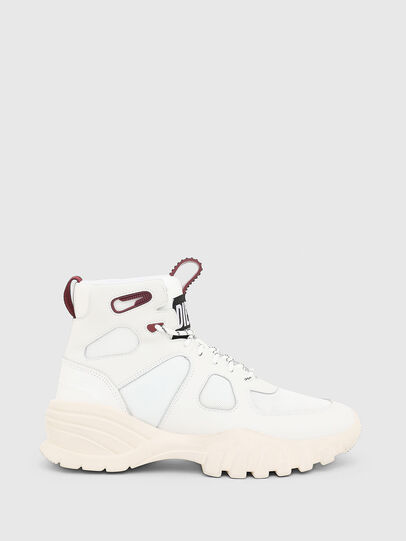 Diesel - S-SHARQUEZ MID, White/Red - Sneakers - Image 4