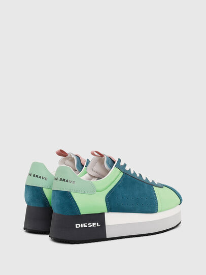 Diesel - S-PYAVE WEDGE, Green/Blue - Sneakers - Image 3