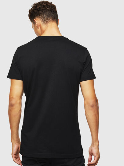 Diesel - T-RUBIN-POCKET-J1, Black - T-Shirts - Image 2