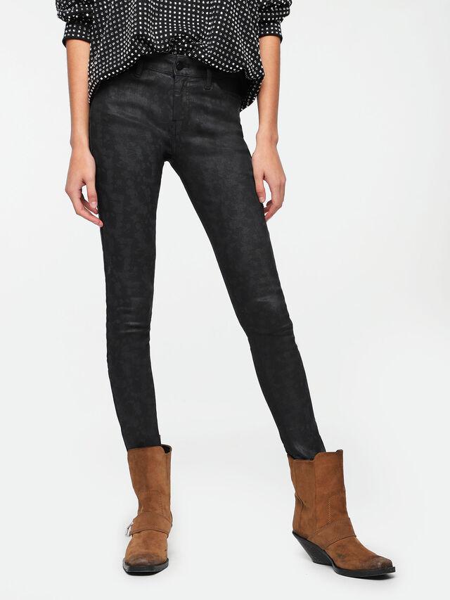 Diesel - Slandy Zip 085AX, Dark Blue - Jeans - Image 1