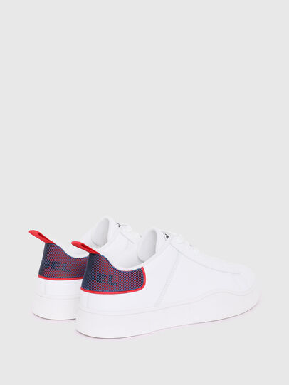 Diesel - S-CLEVER LOW LACE, White/Red - Sneakers - Image 3