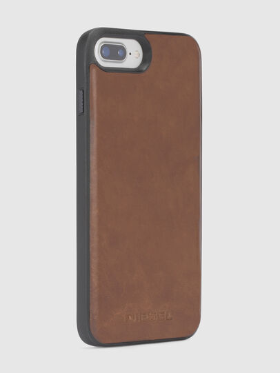 Diesel - BROWN LEATHER IPHONE X CASE,  - Cases - Image 5