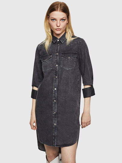 Diesel - DE-BLANK, Black/Dark grey - Dresses - Image 1