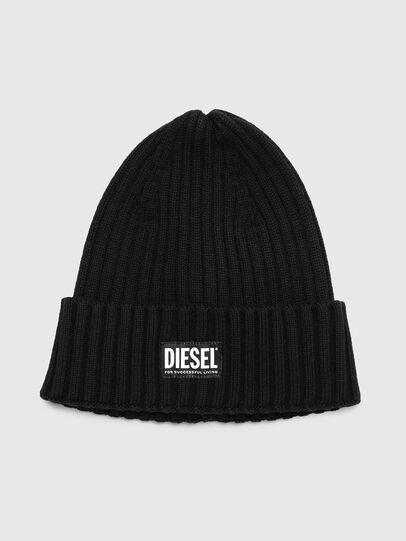 Diesel - K-CODER-E, Black - Knit caps - Image 1