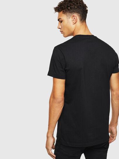 Diesel - T-DIEGO-SLITS-J6, Black - T-Shirts - Image 2