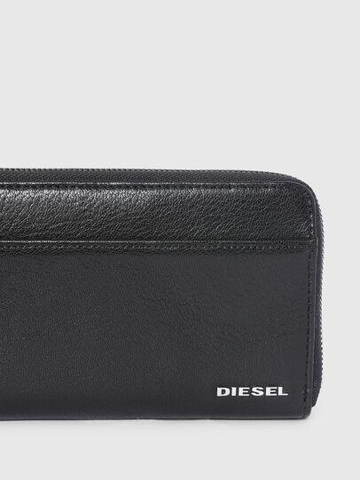 Diesel - 24 ZIPOCKET, Black/Grey - Zip-Round Wallets - Image 4