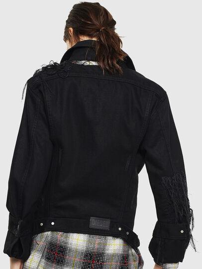 Diesel - DE-NALINI, Black/Dark grey - Denim Jackets - Image 2