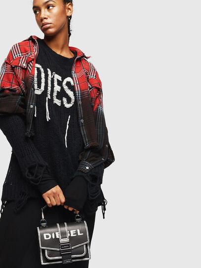 Diesel - MISS-MATCH CROSSBODY, Black/White - Crossbody Bags - Image 6