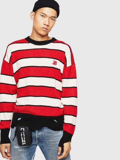 Diesel - K-LOVERY, Red/White - Knitwear - Image 1
