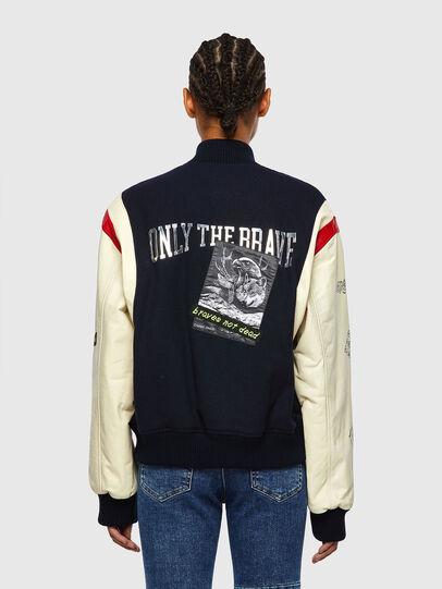 Diesel - L-COHEN, White/Blue - Leather jackets - Image 2