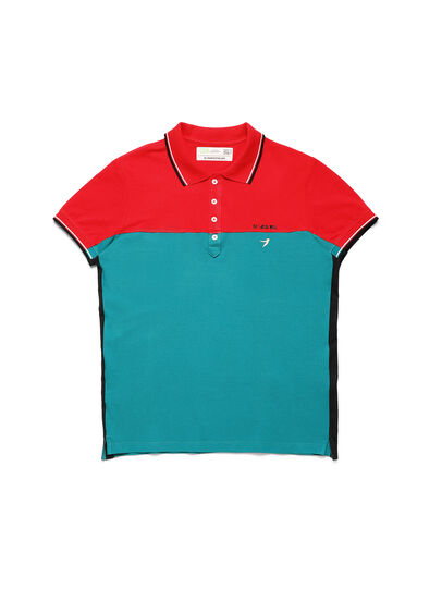 Diesel - D-IHATEPOLOS, Green/Red - Polos - Image 1